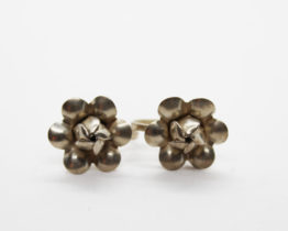 Vintage Sterling Silver Flower Earrings | Whispering City RVA