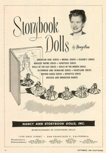 Nancy Ann Storybook Dolls print ad, 1949