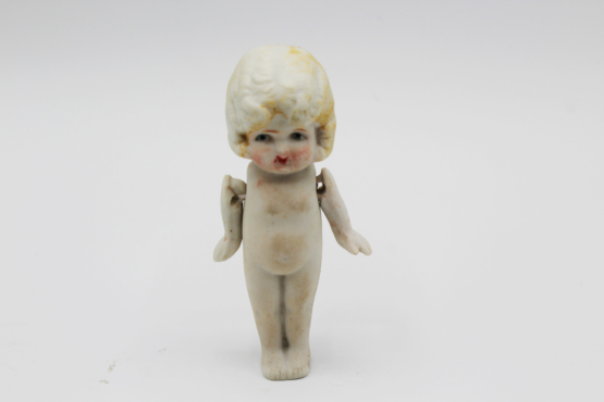 Vintage Small Bisque Frozen Legs Flapper Doll | Whispering City RVA