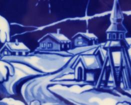 1980 Hackefors Jultallrik Scandinavian Collectors Plate | Whispering City RVA
