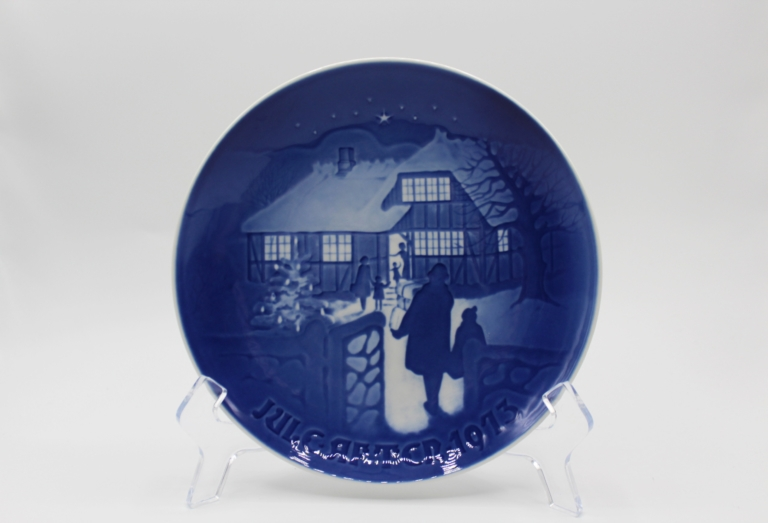 1973 B&G Bing & Grondahl Country Christmas Collectors Plate   Whispering City RVA