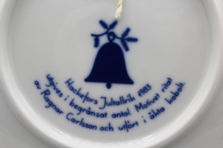 1983 Hackefors Jultallrik Scandinavian Collectors Plate | Whispering City RVA