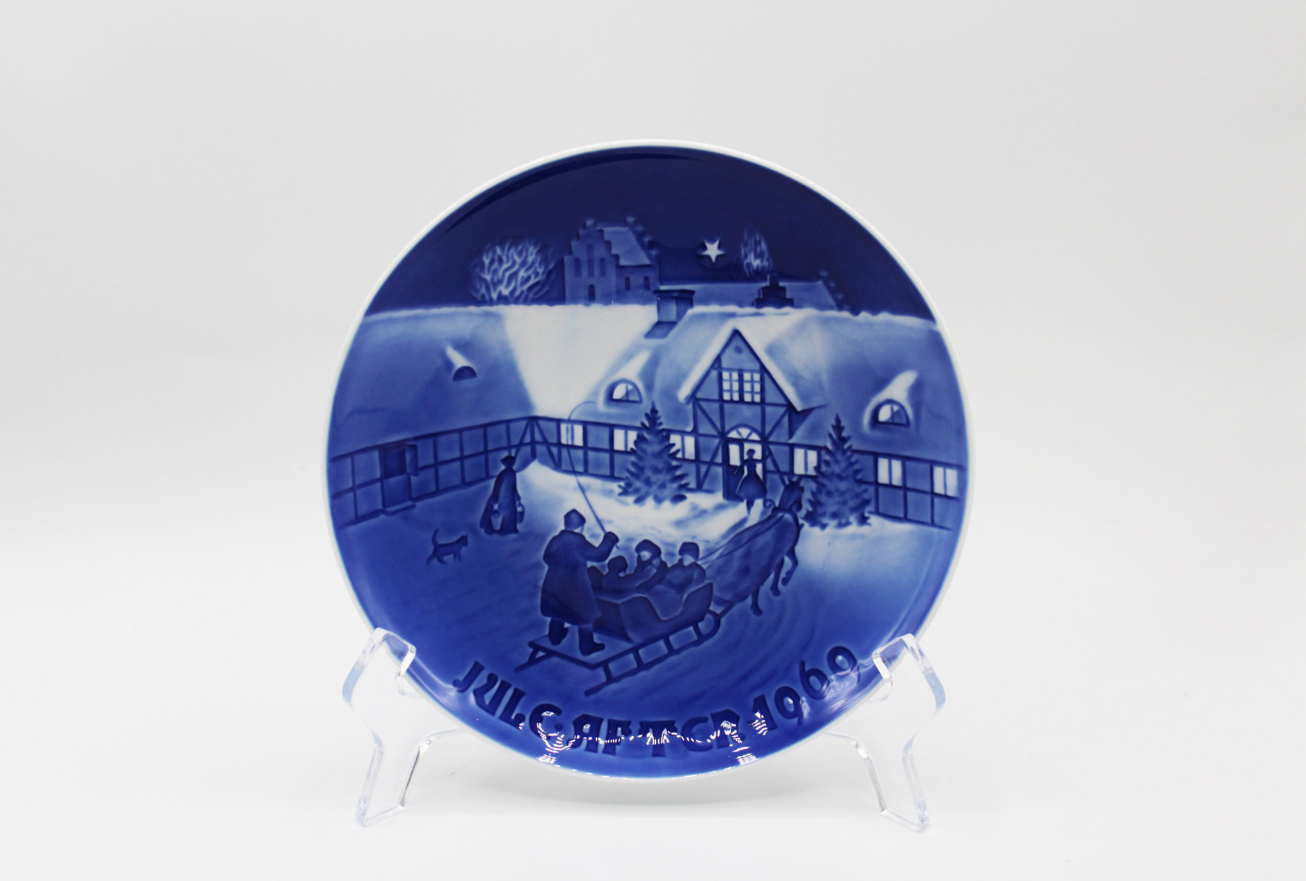 1969 B&G Bing & Grondahl Arrival of Christmas Guests Collectors Plate | Whispering City RVA