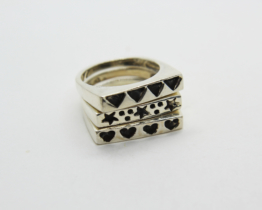 Vintage 925 Sterling Silver Stacking Rings Set | Whispering City RVA