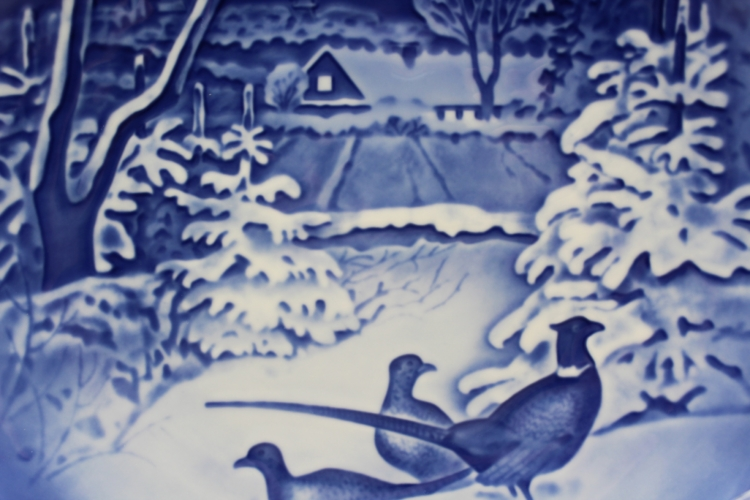 1970 B&G Bing & Grondahl Pheasants in the Snow at Christmas Collectors Plate | Whispering City RVA
