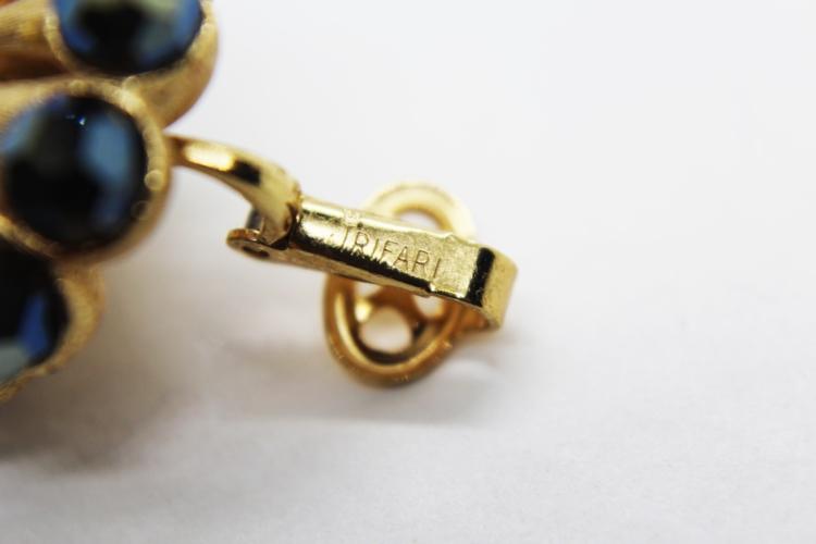 Vintage Trifari Crown AB Crystal Earrings at Whispering City RVA