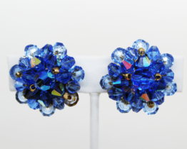 Vintage Blue AB Crystal Earrings at Whispering City RVA