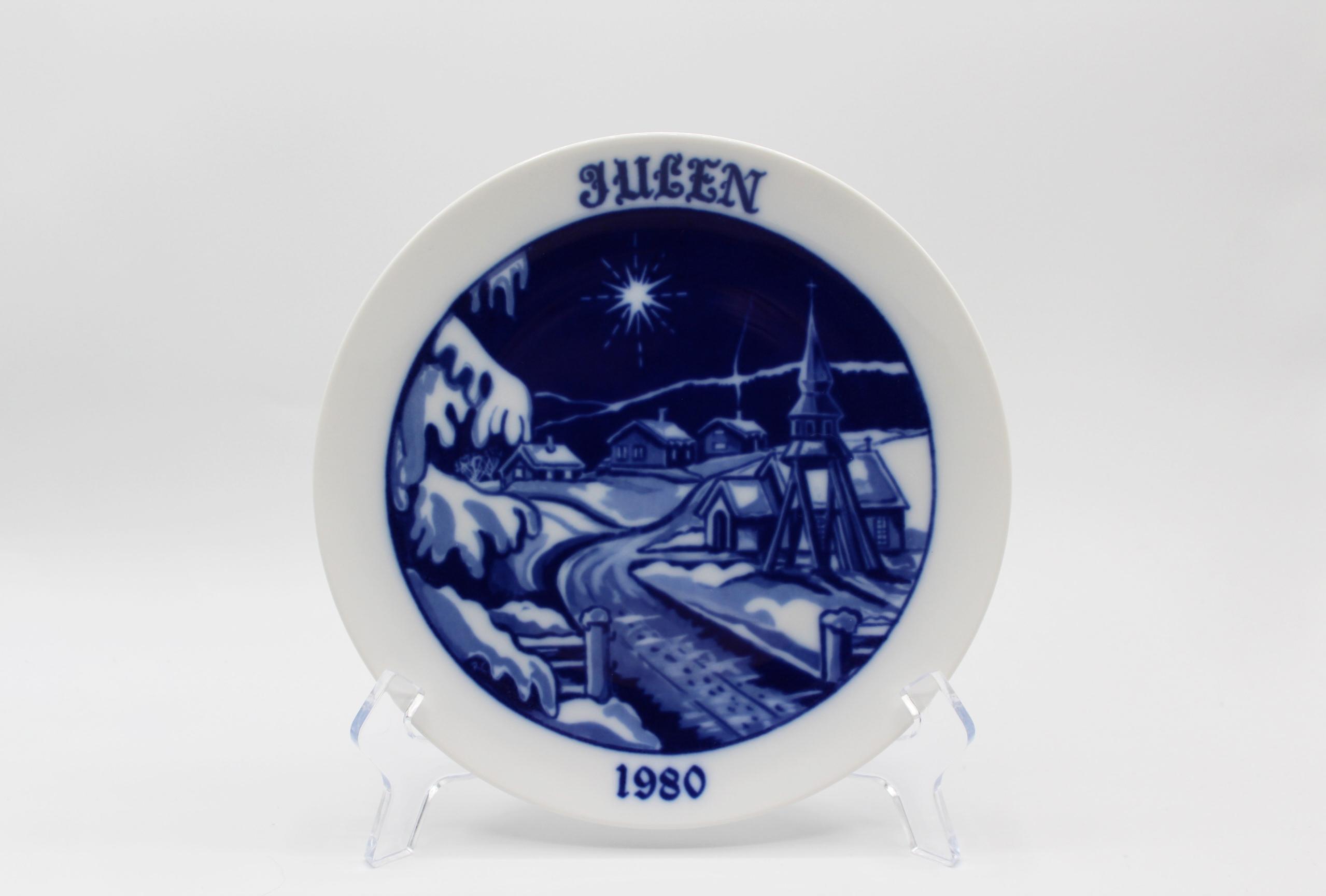 1980 Hackefors Jultallrik Scandinavian Collectors Plate   Whispering City RVA