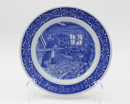 1971 Rorstrand Fars Dag Collectors Plate | Whispering City RVA