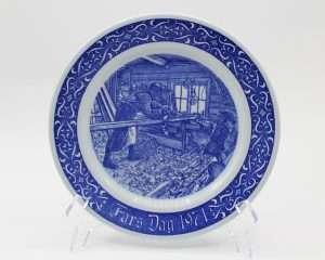 1971 Rorstrand Fars Dag Collectors Plate | Whispering City RVA