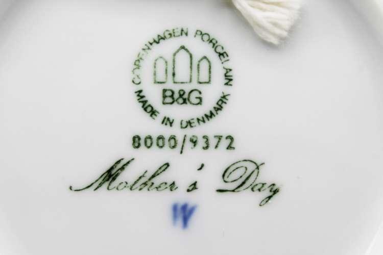1972 B&G Mors Dag Collectors Plate   Whispering City RVA