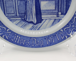 1971 Rorstrand Mors Dag Mother's Day Porcelain Collectors Plate at Whispering City RVA