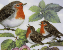 1993 Royal Copenhagen Nature's Children The Robins Collectors Plate at Whispering City RVA