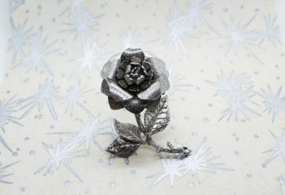 Vintage Silver-Tone Rose Brooch | Whispering City RVA