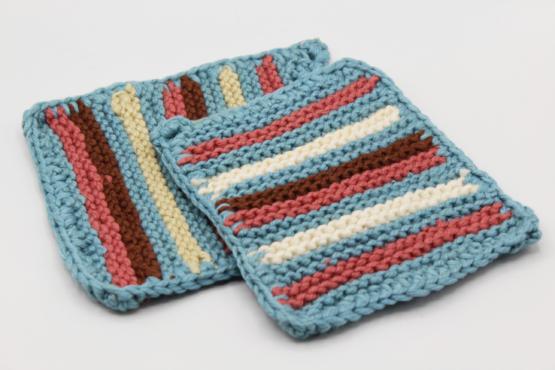 1940s Vintage Handmade Crochet Pot Holder Set of 2 | Whispering City RVA