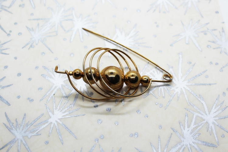 Vintage Geometric Ball & Hoop Accent Pin | Whispering City RVA