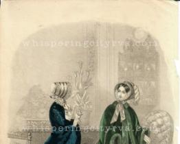 Antique Colored Engraving – Les Modes Parisiennes c. 1851 | Whispering City RVA