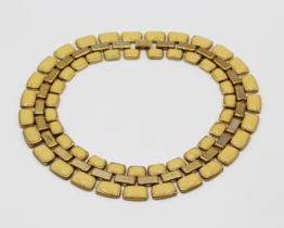 Vintage Gold Tone Yellow Enamel Collar Necklace | Whispering City RVA