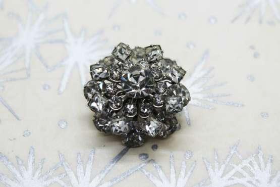 Vintage Rhinestone MCM Circular Snowflake Brooch | Whispering City RVA