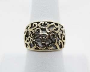 Vintage Silver Swirl Design Ring Size 8.5 | Whispering City RVA