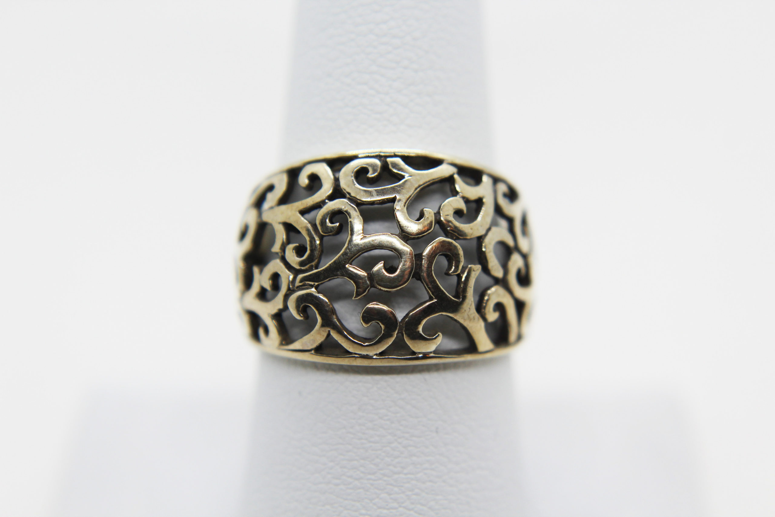 Vintage Silver Swirl Design Ring Size 8.5 | Whispering City RVA