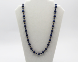 Vintage 24″ Blue Stone Bead Necklace | Whispering City RVA
