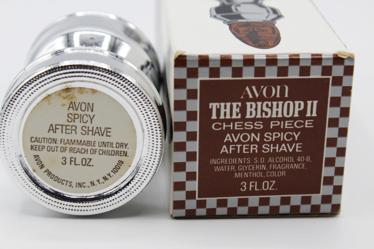 Vintage Avon The Bishop II Chess Piece After Shave Decanter Bottle | Whispering City RVA
