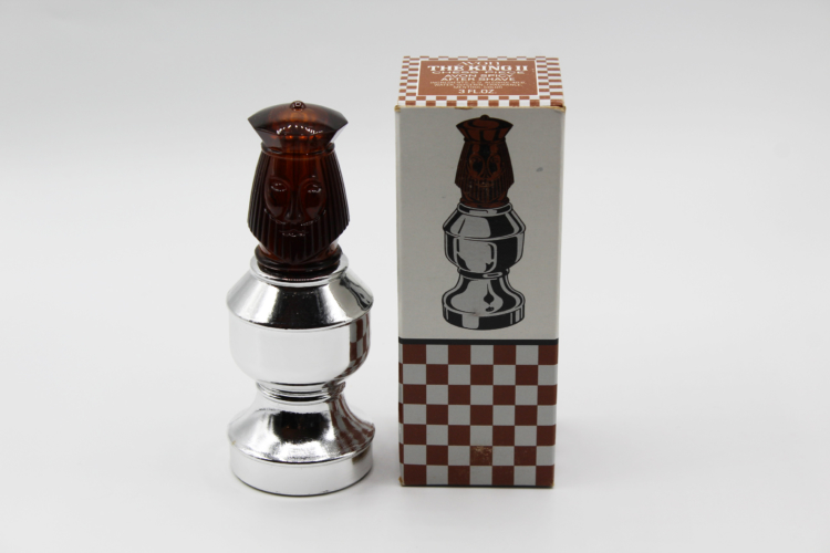 Vintage Avon The King II Chess Piece After Shave Decanter Bottle   Whispering City RVA