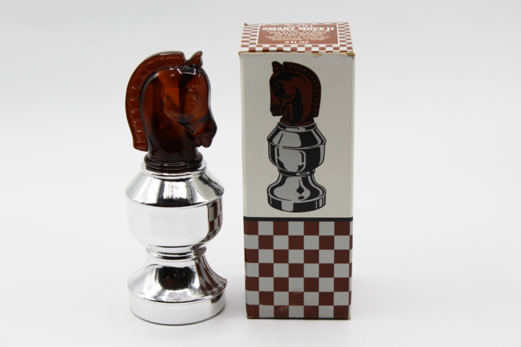 Vintage Avon Smart Move II (The Knight) Chess Piece After Shave Decanter Bottle | Whispering City RVA