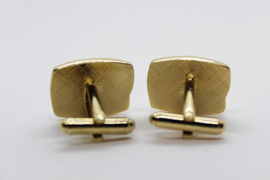 Vintage Gold Tone & Black Enamel Cufflinks | Whispering City RVA